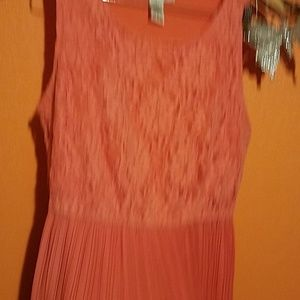 Coral top lace dress